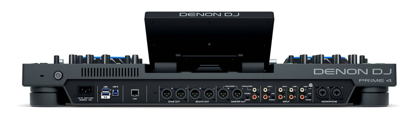 """Denon DJ Prime 4 Standalone 4 Deck DJ System with 10"""" Touchscreen Product Image 6"""