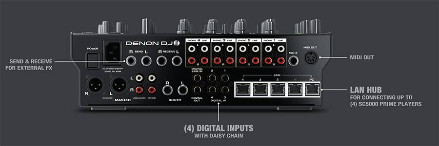 Denon DJ X1800 PRIME Professional 4 Channel DJ Club Mixer Product Image 9