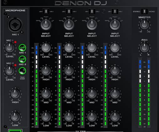 Denon DJ X1800 PRIME Professional 4 Channel DJ Club Mixer Product Image 3