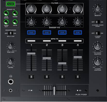 Denon DJ X1800 PRIME Professional 4 Channel DJ Club Mixer Product Image 4