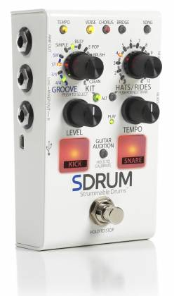 Digitech SDRUM Intelligent Drum Effect Pedal for Guitar and Bass Product Image 2
