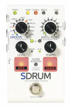 Digitech SDRUM Intelligent Drum Effect Pedal for Guitar and Bass Product Image 3