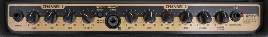 Peavey Ecoustic E208 30W 2 Channel Acoustic Amplifier 03599680-ecoustic-e-208 Product Image 3