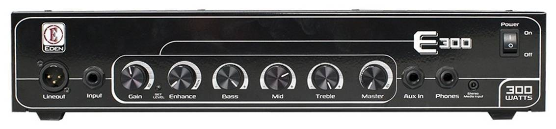Eden E300E E-Series 300-Watt Bass Amplifier Head Product Image 2