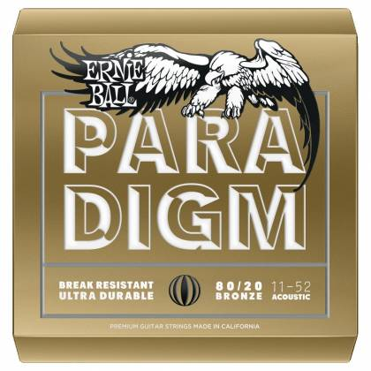 Ernie Ball 2088EB Paradigm Paradigm 80/20 Bronze Acoustic Guitar Strings .011-.052 Light Product Image 2