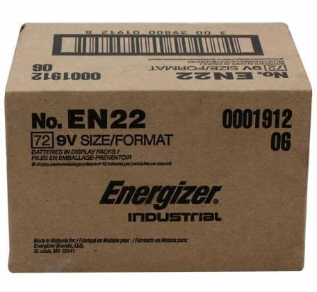 Energizer EN-22-72pack 9V Industrial Battery 72 pack Product Image 2