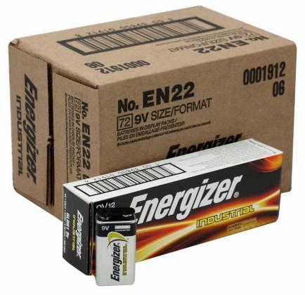 Energizer EN-22-72pack 9V Industrial Battery 72 pack Product Image 7