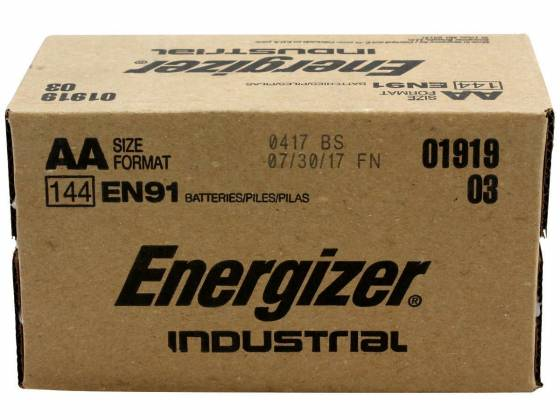 Energizer EN-91-144pack AA Industrial Battery 144 Pack Product Image 2