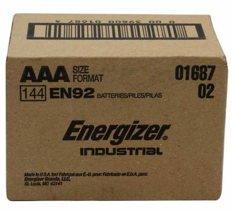Energizer EN-92-144pack AAA Industrial Battery 144 Pack Product Image 2