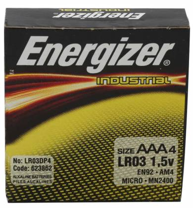 Energizer EN-92-4pack AAA Industrial Battery 4 Pack Product Image 2
