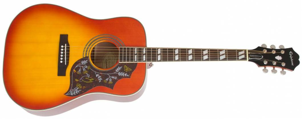 Epiphone EEHBFCNH Faded Cherry Burst Hummingbird Pro 6 String RH Acoustic Electric Product Image 2