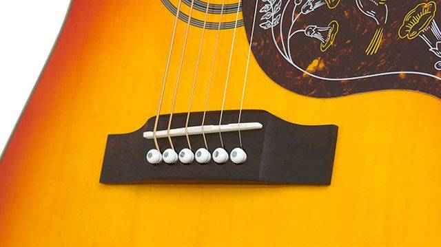 Epiphone EEHBFCNH Faded Cherry Burst Hummingbird Pro 6 String RH Acoustic Electric Product Image 3