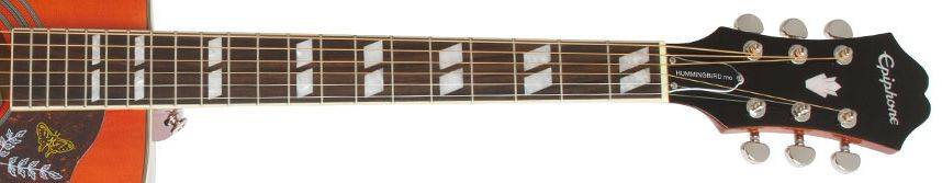 Epiphone EEHBFCNH Faded Cherry Burst Hummingbird Pro 6 String RH Acoustic Electric Product Image 6