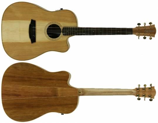 Cole Clark CCFL2EC-COLB Dreadnought Guitar w/ Pickup & Ctwy - Cedar of Leb/Blackwood Product Image 2