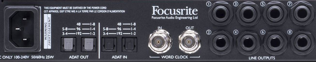 Focusrite Scarlett Octopre Dynamic Second Generation Natural Sounding Dynamic Mic Preamp Product Image 6