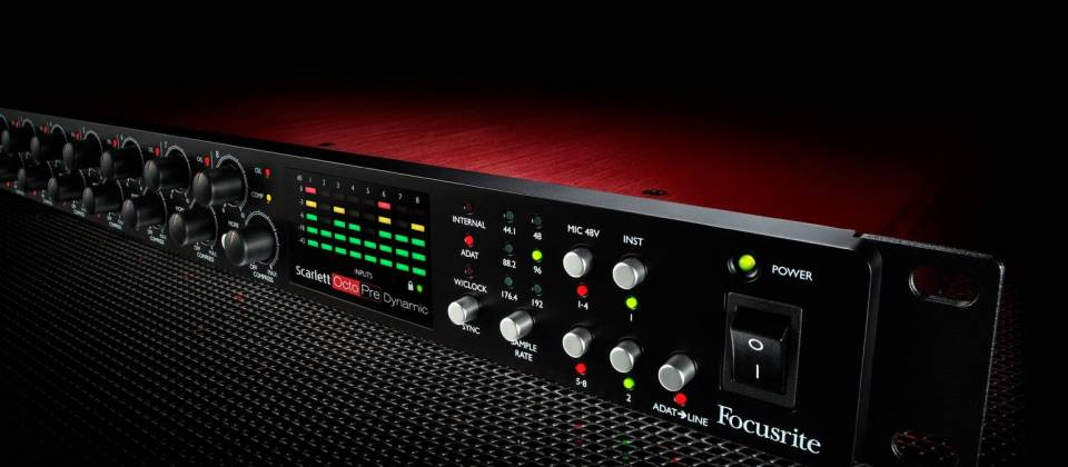 Focusrite Scarlett Octopre Dynamic Second Generation Natural Sounding Dynamic Mic Preamp Product Image 10