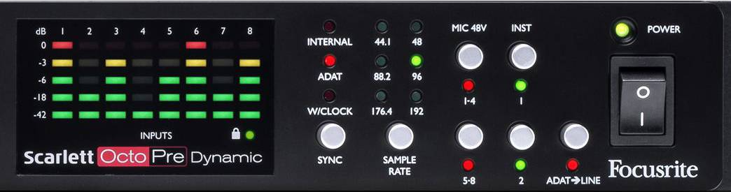 Focusrite Scarlett Octopre Dynamic Second Generation Natural Sounding Dynamic Mic Preamp Product Image 13
