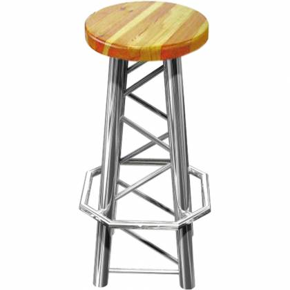 Global Truss TRUSS-CHAIR Truss Bar Stool with Straight Legs Product Image 2