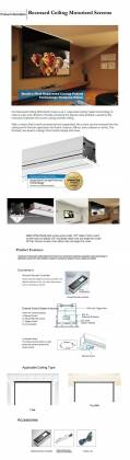 """Grandview GV-RTT100 - 100"""" Recessed Ceiling Tab-Tension Motorized Projector Screen 16:9 Product Image 3"""
