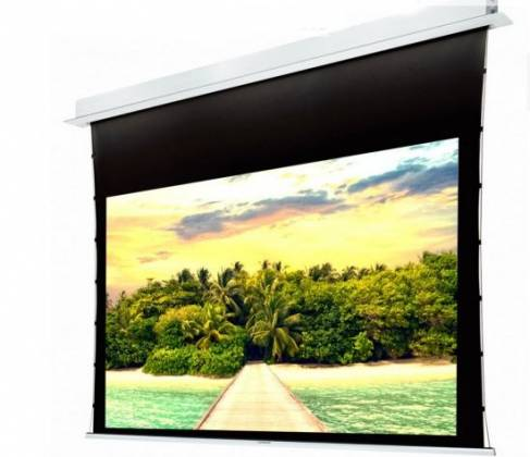 """Grandview GV-RTT100 - 100"""" Recessed Ceiling Tab-Tension Motorized Projector Screen 16:9 Product Image 5"""