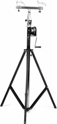 Global Truss ST-132 Medium Duty Crank Stage Light Stand with T Bar and leveling leg  Product Image 2