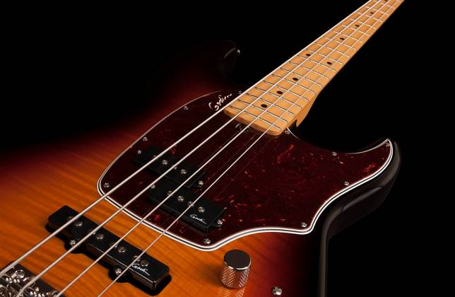 Godin 046928 Shifter Classic 4 String Bass Guitar - Vintage Burst HG MN w/Bag  Product Image 3