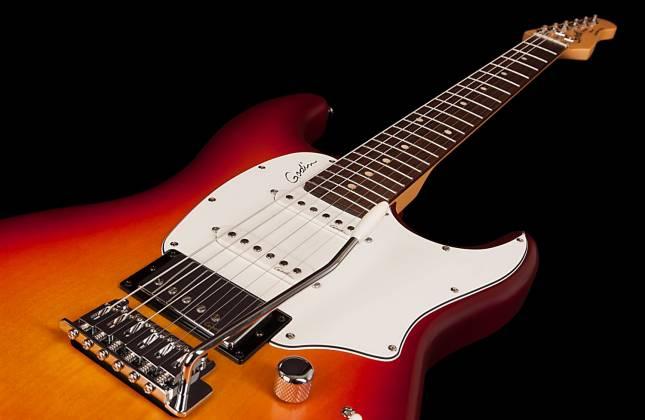 godin 047017 session sg rn 6 string electric guitar cherry burst discontinued clearance. Black Bedroom Furniture Sets. Home Design Ideas