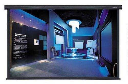 Grandview GV-CMO092 CB-MIR 92 Integrated Cyber Motorized Screen with Black Casing 16:9 Format Product Image 2