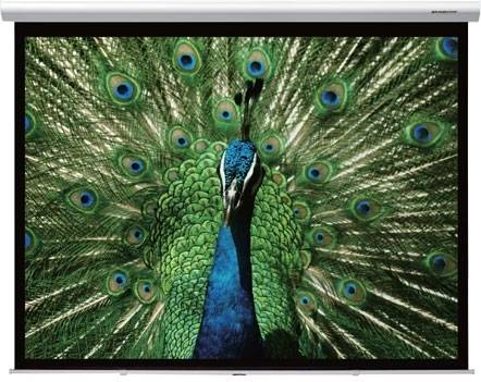 """Grandview GV-CMO084-4W CB-MIR 84 Integrated Cyber Motorized 84"""" Screen with White Casing 4:3 Format Product Image 2"""