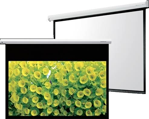 """Grandview GV-CMO084-4W CB-MIR 84 Integrated Cyber Motorized 84"""" Screen with White Casing 4:3 Format Product Image 6"""