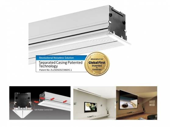 Grandview GV-RCM120 RCB-MIR 120 Recessed Integrated Cyber Motorized Screen  Format 16:9