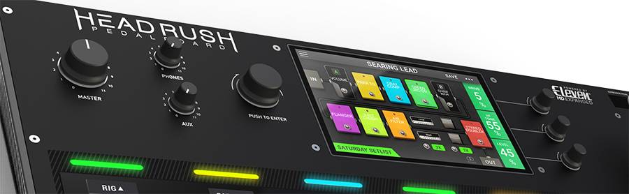 HeadRush Pedalboard Programmable Guitar Pedal board with 7 Inch High Resolution Touch Display Product Image 3