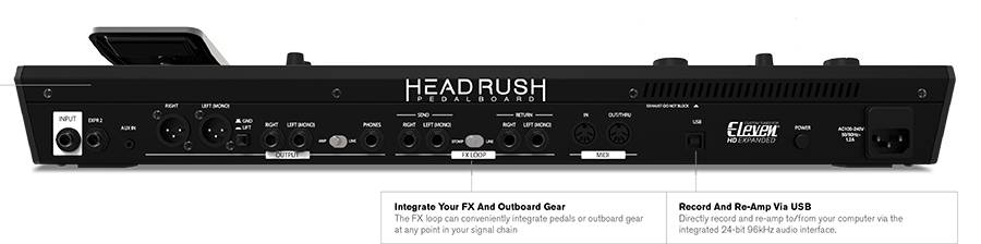 HeadRush Pedalboard Programmable Guitar Pedal board with 7 Inch High Resolution Touch Display Product Image 7