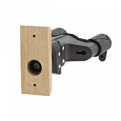 Hercules GSP38WB+ Auto-Grip Wallmount Guitar Hanger - Wood Base, Short Arm fits multiple instruments  gsp-38-wb-plus Product Image 3
