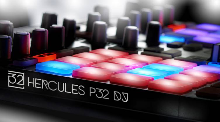 Hercules Audio P32DJ All-In-One DJ Controller with 2 Grids of 16 Effects Pads Product Image 6