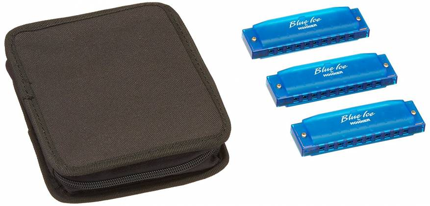 Hohner BIP Blue Ice Harmonica Set  Product Image 3