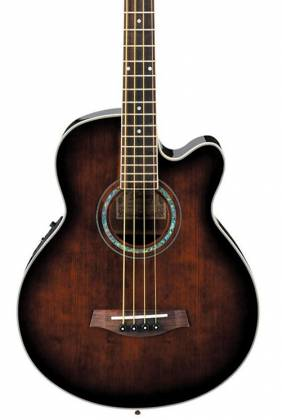 Ibanez AEB10E-DVS AEB Series 4 String RH Acoustic Electric Bass-Dark Violin Sunburst High Gloss  Product Image 3