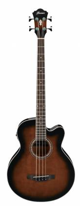 Ibanez AEB10E-DVS AEB Series 4 String RH Acoustic Electric Bass-Dark Violin Sunburst High Gloss  Product Image 2