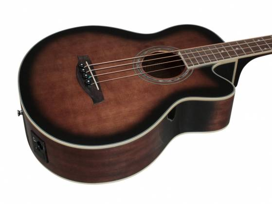 Ibanez AEB10E-DVS AEB Series 4 String RH Acoustic Electric Bass-Dark Violin Sunburst High Gloss  Product Image 4