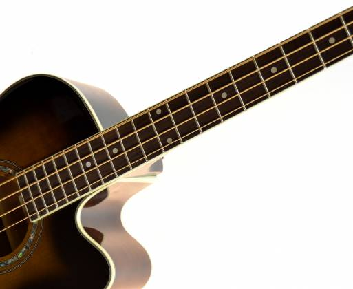 Ibanez AEB10E-DVS AEB Series 4 String RH Acoustic Electric Bass-Dark Violin Sunburst High Gloss  Product Image 5