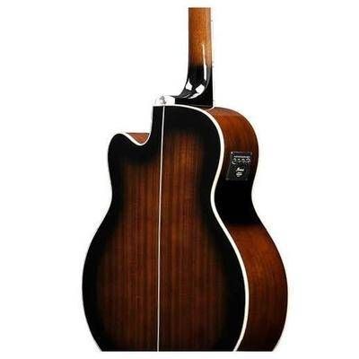 Ibanez AEB10E-DVS AEB Series 4 String RH Acoustic Electric Bass-Dark Violin Sunburst High Gloss  Product Image 6