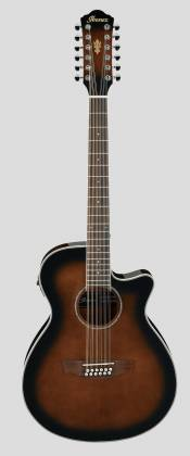 Ibanez AEG1812II-DVS AEG Series 12 String RH Acoustic Electric Guitar-Dark Violin Sunburst High Gloss  Product Image 2