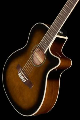 Ibanez AEG1812II-DVS AEG Series 12 String RH Acoustic Electric Guitar-Dark Violin Sunburst High Gloss  Product Image 11