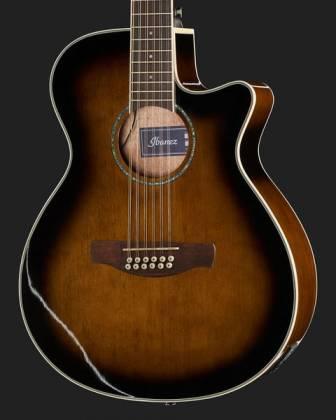 Ibanez AEG1812II-DVS AEG Series 12 String RH Acoustic Electric Guitar-Dark Violin Sunburst High Gloss  Product Image 4