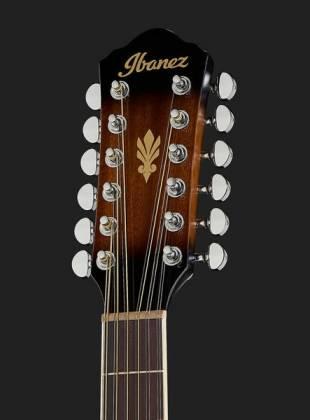 Ibanez AEG1812II-DVS AEG Series 12 String RH Acoustic Electric Guitar-Dark Violin Sunburst High Gloss  Product Image 6