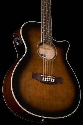 Ibanez AEG1812II-DVS AEG Series 12 String RH Acoustic Electric Guitar-Dark Violin Sunburst High Gloss  Product Image 9