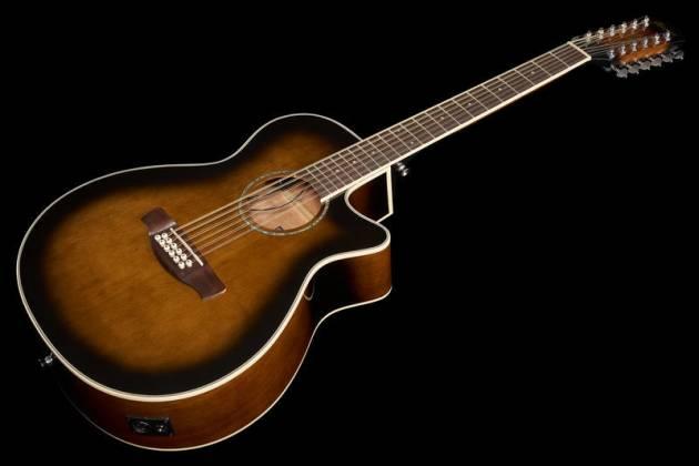 Ibanez AEG1812II-DVS AEG Series 12 String RH Acoustic Electric Guitar-Dark Violin Sunburst High Gloss  Product Image 10