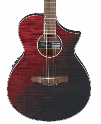 Ibanez AEWC 32 FM RSF 6 String RH Acoustic Electric Guitar-Red Sunset Fade aew-c-32-fm-rsf Product Image 2