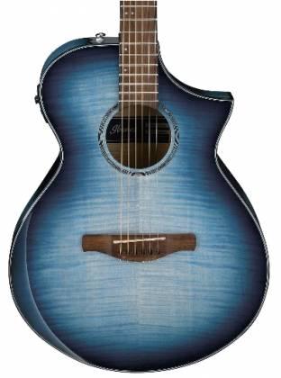 Ibanez AEWC400-IBB AEWC Series 6 String RH Acoustic Electric Guitar-Indigo Blue Burst High Gloss Product Image 2