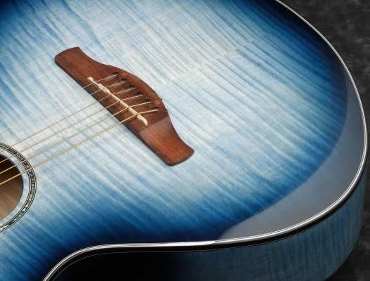 Ibanez AEWC400-IBB AEWC Series 6 String RH Acoustic Electric Guitar-Indigo Blue Burst High Gloss Product Image 3